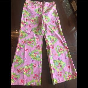 Lilly Pulitzer wife leg vintage pants.
